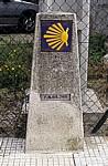 Jakobsweg (Caminho Português): Camino-Wegstein - Pontevedra
