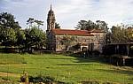 Jakobsweg (Caminho Português): Iglesia de Santa Mariña de Carracedo - Carracedo