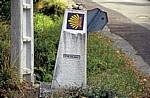 Jakobsweg (Caminho Português): Camino-Wegstein  - Ponte Valga