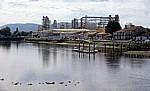 Jakobsweg (Caminho Português): Industrieanlage - Pontecesures