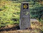 Jakobsweg (Caminho Português): Camino-Wegstein - Angueira de Suso