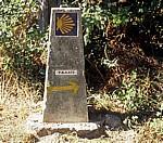 Jakobsweg (Caminho Português): Camino-Wegstein - A Rocha Vella