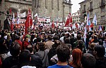 Altstadt: Prazas das Praterías - Demonstration - Santiago de Compostela