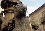 Altstadt: Fonte dos Cabalos (Pferdebrunnen) - Detail - Santiago de Compostela