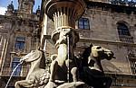 Altstadt: Fonte dos Cabalos (Pferdebrunnen) - Santiago de Compostela