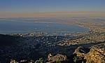 Blick vom Tafelberg auf die Stadt und den Hafen - Kapstadt