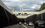 M25: Dartford Crossing – Einfahrt in den Dartford Tunnel - Kent