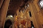 The Cathedral Church of St Peter (Kathedrale): Blick auf die Holzdecke des Schiffs - Peterborough