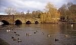 River Wye Park: Brücke (13. Jh.) über den River Wye - Bakewell