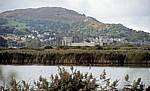 Blick vom RSPB-Schutzgebiet auf Conwy Castle - Conwy