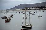 River Conwy: Flußmündung mit Booten - Conwy