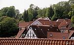 Blick über Fachwerkhausgiebel - Tecklenburg