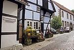 Krummacherstraße: Schiefes Haus (Fachwerkhaus) - Tecklenburg