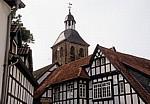 Fachwerkhäuser vor der Ev. Stadtkirche - Tecklenburg
