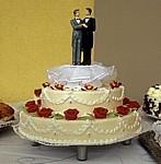 Hochzeitstorte mit Tortenfigurenpaar (Männer) - München