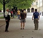 Hofgarten: Boule-Spieler (Pétanque) - München