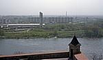 Blick vom Burgberg: Petržalka (Engerau) - Bratislava