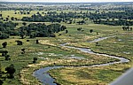 Flug Kwara - Maun: Blick auf das Delta - Okavango-Delta