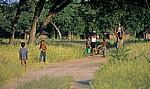Ombili: Kinder auf dem Weg zum Dorf - Oshikoto