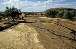 Trockenes Flußbett des Ugab - Erongo