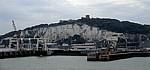 Fähre Dover - Dünkirchen: Blick von der Fähre auf den Port of Dover (Hafen, Eastern Docks) - Dover