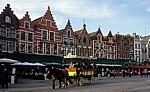 Grote Markt: (Neo-)Gotische Giebelhäuser - Brügge