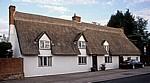 The Street: Cottage mit Reetdach und Füchsen aus Reet - Stoke-by-Clare