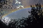 Blick auf den Regenbogen am Fuße des Devil's Cataracts - Victoriafälle