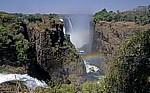 Blick auf Devil's Cataract und Main Falls - Victoriafälle