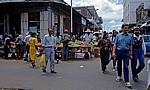 Brabant Street: Straßenmarkt (Obst) - Port Louis