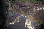 Danger Point: Regenbogen über dem Zambezi unterhalb der Fälle - Victoriafälle