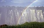 Eastern Cataract mit Regenbogen - Victoriafälle (Zambia)