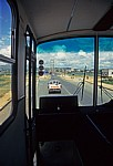 Blick aus dem Bus auf die EN 103 und die Ponte Samora Machel (Brücke) - Tete