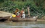 Fähranleger: Fahrgäste beim Einsteigen - Rufiji