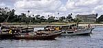 Fähre Kigamboni - Kivukoni: Boote im Hafen - Daressalam