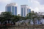Fähre Kigamboni - Kivukoni: Blick auf die Bank of Tanzania - Daressalam