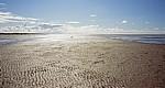 Beach (Strand): Strukturen im Sand und Wassersaum - Southport