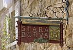 Stari Grad (Altstadt): Aushängeschild (Kafe Bar) - Budva