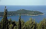 Blick auf das Adriatische Meer (Adria) mit der Insel Lokrum - Gespanschaft Dubrovnik-Neretva