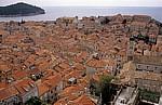 Stari Grad (Altstadt): Blick von der Stadtmauer - Dubrovnik