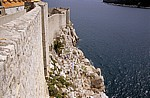 Stari Grad (Altstadt): Blick von der Stadtmauer - Cafe - Dubrovnik
