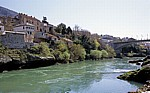 Fluß Neretva - Mostar