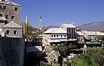 Stari Grad (Altstadt): Blick von der Stari most (Alte Brücke) - Mostar