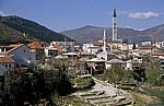 Blick auf den westlichen (kroatischen) Teil der Stadt - Mostar