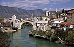 Blick auf die Stari Grad (Altstadt) - Mostar