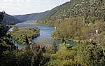 Fluß Krka unterhalb der Skradinski buk (Skradin-Wasserfälle) - Nationalpark Krka