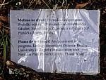 Donja jezera (Untere Seen): Novakovica brod - Hinweisschild für wissenschaftliches Experiment  - Nationalpark Plitvicer Seen