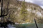 Donja jezera (Untere Seen): Gavanovac - Wasserfälle zu dem dahinterliegenden Milanovac - Nationalpark Plitvicer Seen